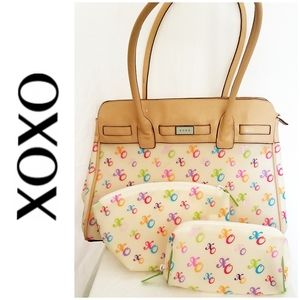 XOXO Semi-transparent Multi-colored Logo Bag